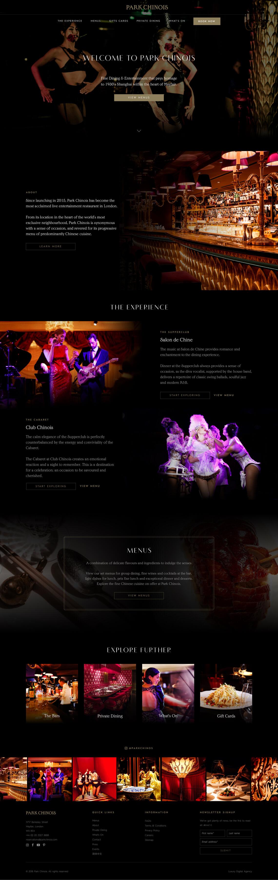park chinois homepage