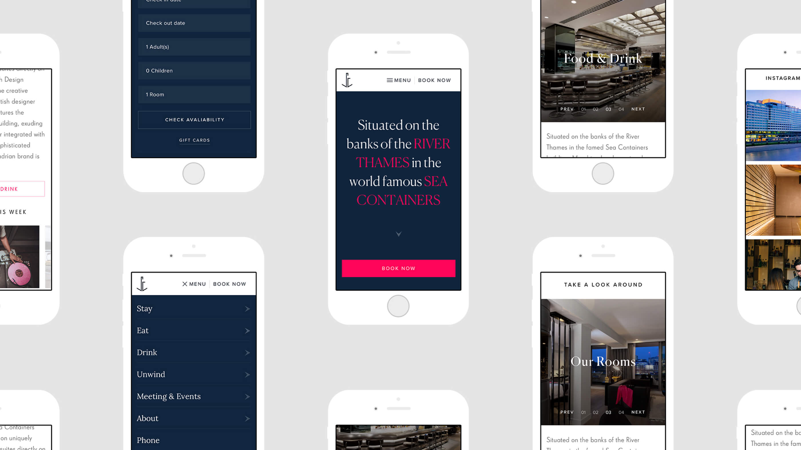 sea containers mobile mockup